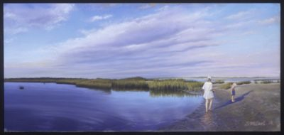 Beachcoming - Pastel Painting by Shelley McCarl - 11x24