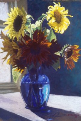 Sunflowers - Pastel Painting by Shelley McCarl
