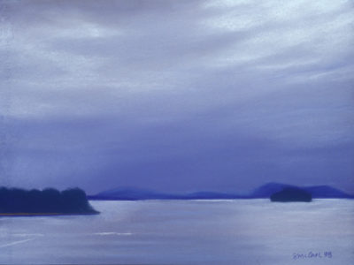 View from Victoria Ferry - Pastel Painting by Shelley McCarl